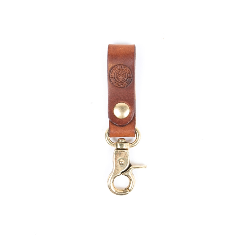 Keyring-leather-brown-Front
