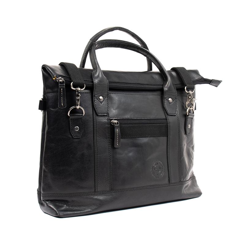 Lage Computer Bag Leather Black Detail