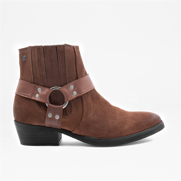 Pushy W Brown Suede