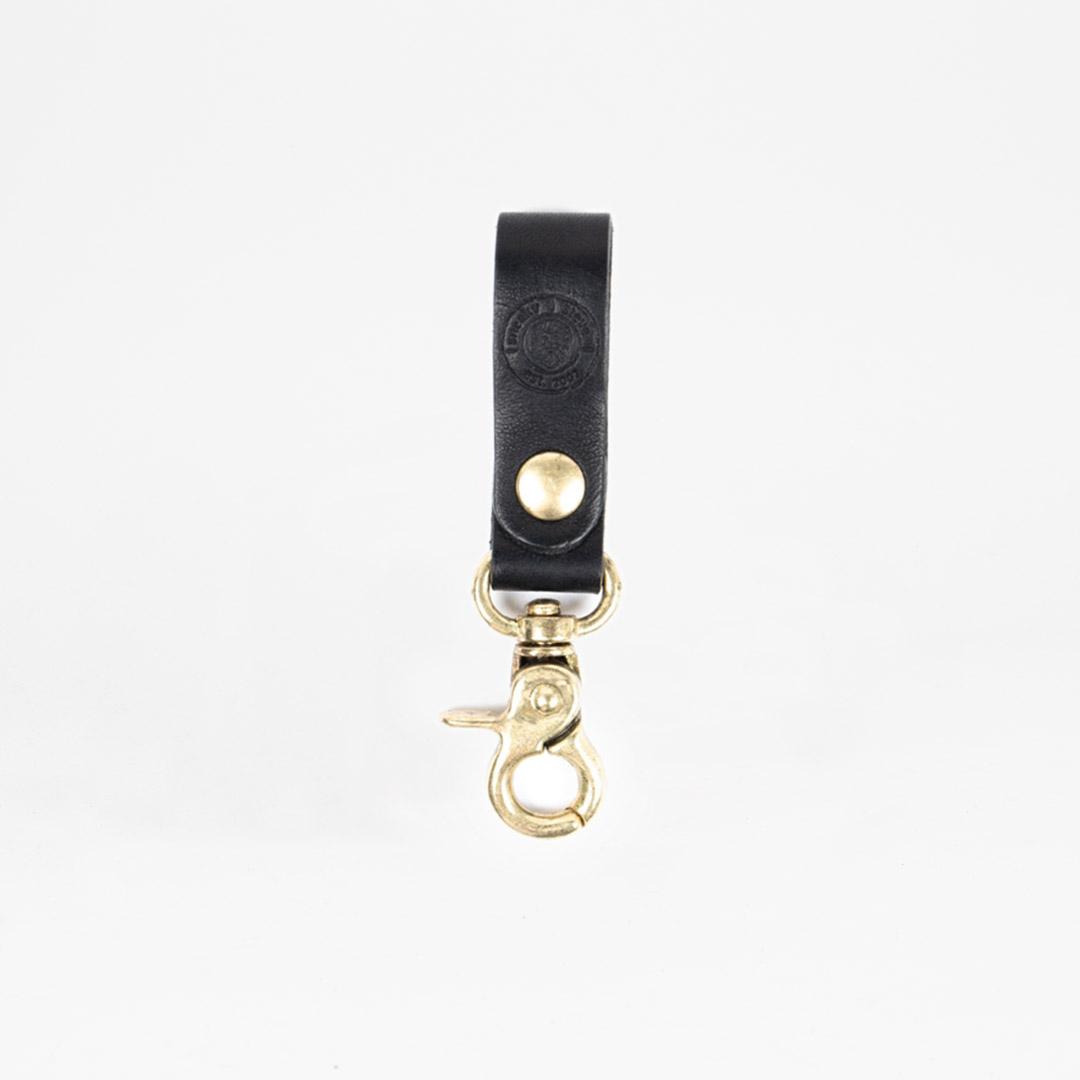 Keyring Leather Black