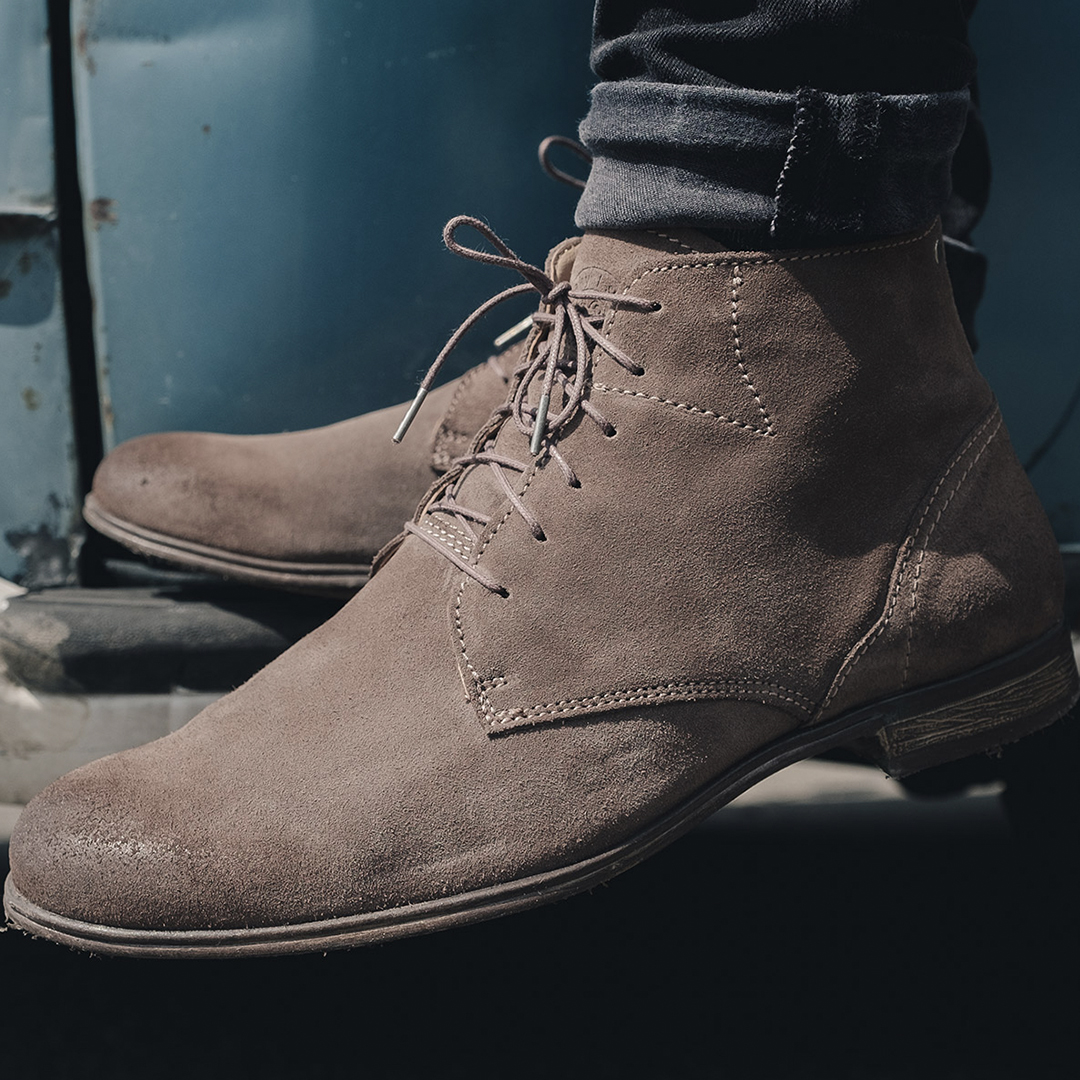 Dirty Mid Taupe Suede