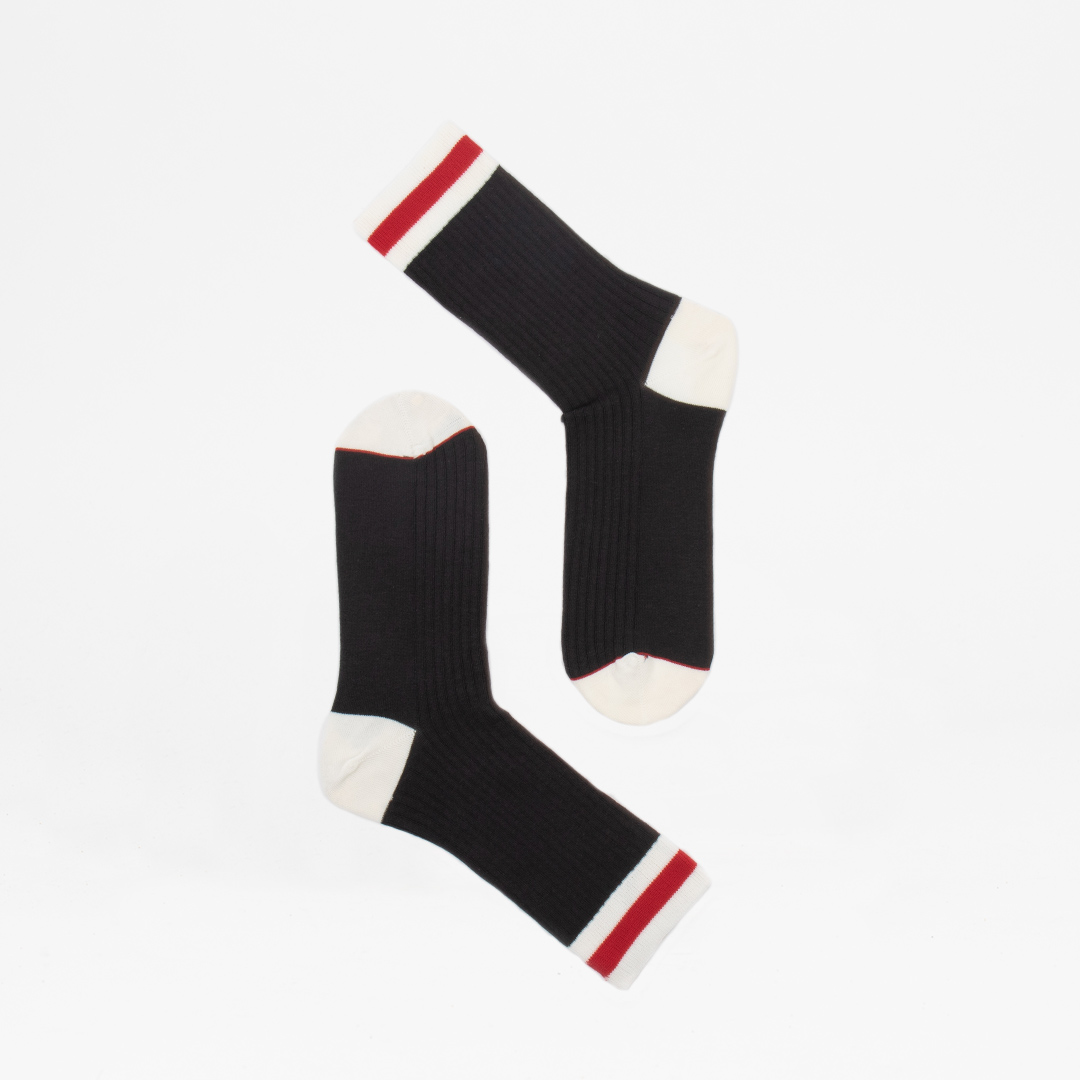 Red Stripe Charcoal