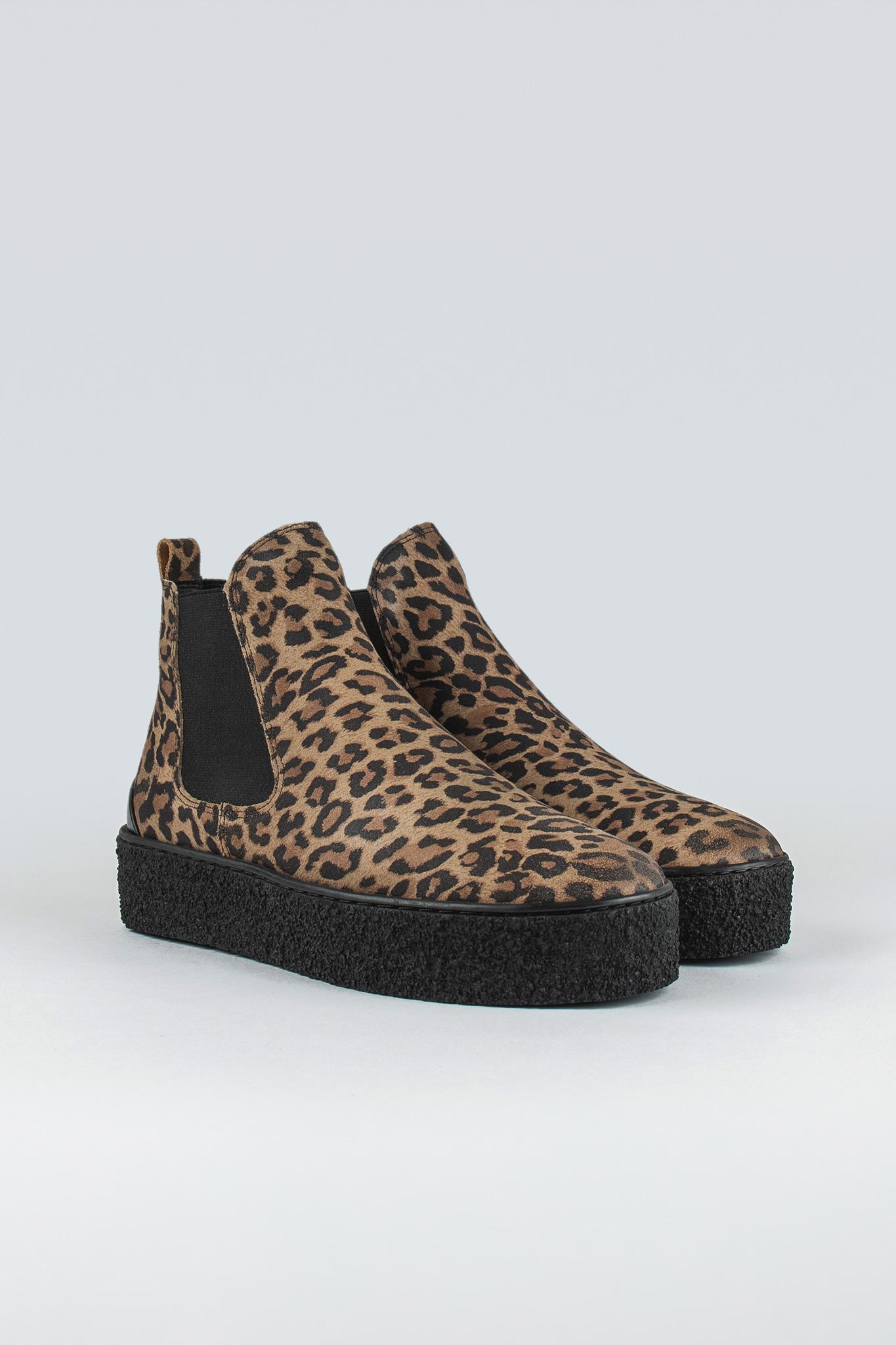 Shallow W Suede Beige Leopard