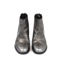 Dazzel-boots-leather-zipper-silver-front