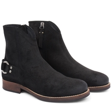 Imperial-cowboy-boot-zipper-suede-black-pair