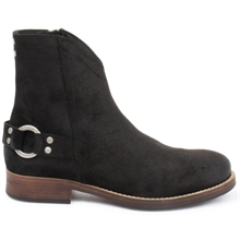 Imperial-cowboy-boot-zipper-suede-black-side