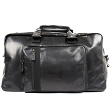 Joar-weekend-bag-leather-black-front