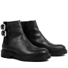 Least-boots-buckles-chelsea-leather-black-pair