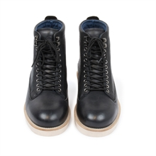 Quick-leather-boot-wedge-sole-black-front
