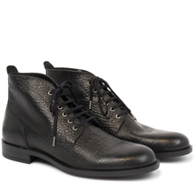 Repose-croco-leather-boots-black-pair